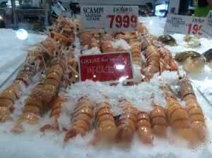 Sashimi grade scampi